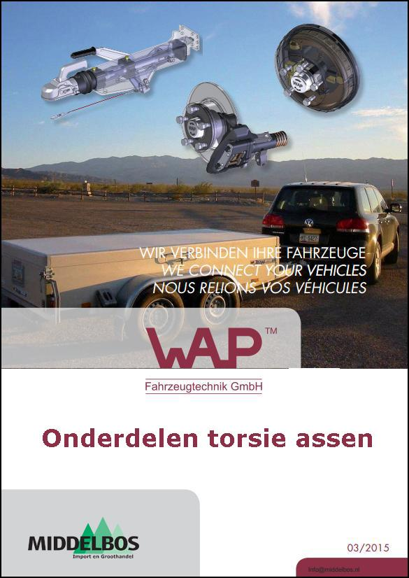 Torsie as onderdelen WAP - PKW - aanhangwagens 2015